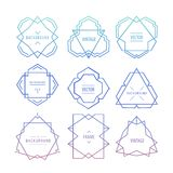 Trendy Retro Vintage Insignias Bundle Royalty Free Stock Images