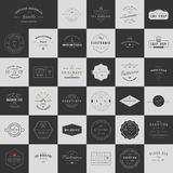 Trendy Retro Vintage Insignias Bundle Stock Photos