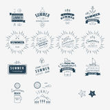 Trendy Retro Vintage Insignias Set. Vector Trendy Retro Vintage Insignias Set stock illustration