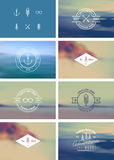 Trendy Retro Vintage Insignias Set Royalty Free Stock Images