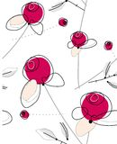 Trendy rose sample. Trendy repeat sample with roses in pink color Stock Photography