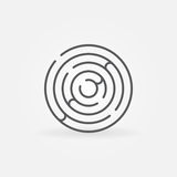 Trendy round maze outline icon Royalty Free Stock Photo