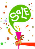 Trendy sale. Sale illustration Stock Images