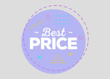 Trendy Sale Geometric Vector Bubble. Flat Shape, Vintage Style. Trendy Sale Geometric Vector Bubble. Best Price Tag, Sale Label, Special Offer Badge. Flat Shape Royalty Free Stock Images