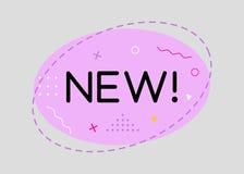 Trendy Sale Geometric Vector Bubble. Flat Shape, Vintage Style. Trendy Sale Geometric Vector Bubble. New Tag, Business Label, Promo Badge. Flat Shape, Vintage Stock Photos