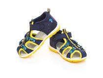 Trendy sandal for boy on white Stock Photos