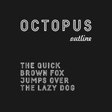 Trendy sans serif font (outlined version) Royalty Free Stock Photos