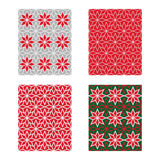 Trendy Scandinavian Seamless Pattern Set. Vector Stock Image