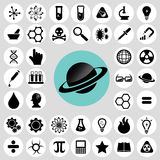 Trendy science icons set. Royalty Free Stock Images