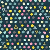 Trendy scribbles seamless pattern in pastel colors vector illustration