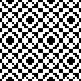 Trendy seamless ethnic pattern. Hipster background is black and white.  Royalty Free Stock Photos