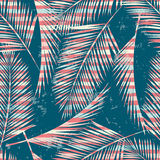 Trendy seamless exotic pattern with palm and geometric elements. Stock Photography