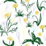 Trendy Seamless Floral Pattern stock illustration