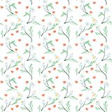 Trendy Seamless Floral Pattern in Vector vector illustration