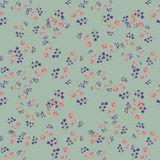 Trendy Seamless Floral Pattern in vector. Sweet seamless background for textile, cotton fabric, covers, wallpapers, print, gift wrap and scrapbooking Stock Photography