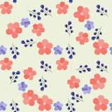 Trendy Seamless Floral Pattern in vector. Sweet seamless background for textile, cotton fabric, covers, wallpapers, print, gift wrap and scrapbooking Stock Image