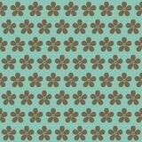 Flowers on a blue background. Seamless floral pattern. Spring ba royalty free stock photography