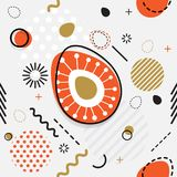 Trendy seamless, Memphis style Easter geometric pattern, vector. Illustration with line elements and  geometric figures. Design backgrounds for invitation Royalty Free Stock Image