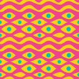 Trendy seamless pattern abstract stripes eyes colorful background vector illustration. Trendy seamless pattern abstract stripes tribal eyes colorful background royalty free illustration