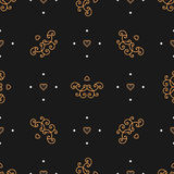 Trendy seamless pattern Art Deco style, Elegant minimal repeating background Stock Photography