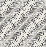 Trendy seamless pattern with curved lines Stock Photos