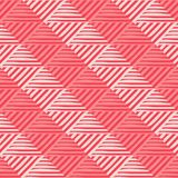 Trendy seamless pattern designs. Mosaic of striped squares. Vector geometric background. stock illustration
