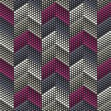 Trendy seamless pattern designs. The zigzag of dots. Vector geometric background. Can be used for wallpaper, textile, invitation card, wrapping, web page stock photo