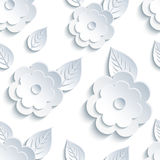 Trendy seamless pattern with flowers and leaves Royalty Free Stock Photography