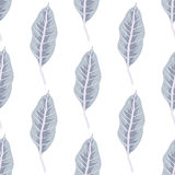 Trendy  seamless pattern with forest plants, leaves Stock Image