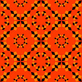 Trendy seamless pattern of geometrical objects in tiger colors. Abstract trendy seamless pattern of geometrical objects in tiger colors stock illustration