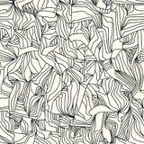 Trendy seamless pattern molecule. stock image