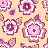 Trendy seamless pattern with sakura and leaves Royalty Free Stock Photos