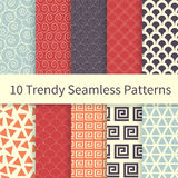 Trendy seamless patterns Royalty Free Stock Image