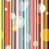 Seamless striped pattern. Trendy seamless striped pattern with transparent balls Stock Photography
