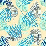Trendy seamless pattern with tropical leaves royalty free illustration