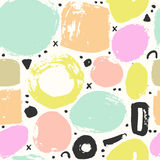 Trendy seampless pattern with brush strokes. Stock Photography