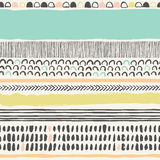Trendy seampless pattern with brush strokes. Stock Photo
