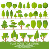 Trendy Set of different trees and other natural objects. Sprites for the game. Stock Image