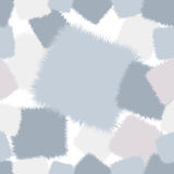 Trendy shaggy seamless pattern patchwork in pink and blue tones Stock Image
