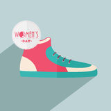 Trendy shoe for Happy Womens Day celebration. Stock Photos