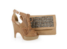 Trendy shoes and spiked bag Royalty Free Stock Images