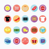 Trendy shopping icons set. Illustration eps10 Stock Photos