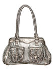 Trendy silver purse Stock Images