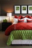 Trendy slaapkamer Royalty-vrije Stock Afbeeldingen