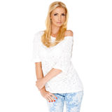 Trendy slim blond woman Royalty Free Stock Photo