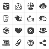 Trendy social network icons set Vector vector illustration