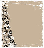 Trendy Stars and Circles Stock Image