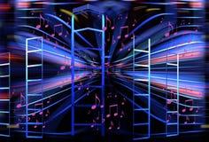 Trendy Stromend Muzikaal Ontwerp stock illustratie