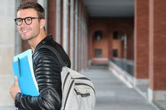 Trendy student heading to the university.  Stock Image