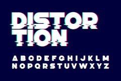 Trendy style distorted glitch font Royalty Free Stock Photography
